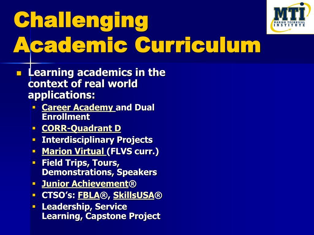 Challenging Academic Curriculum