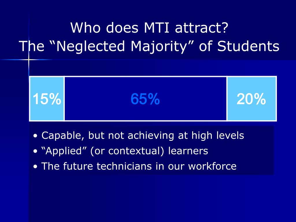 Who does MTI attract?