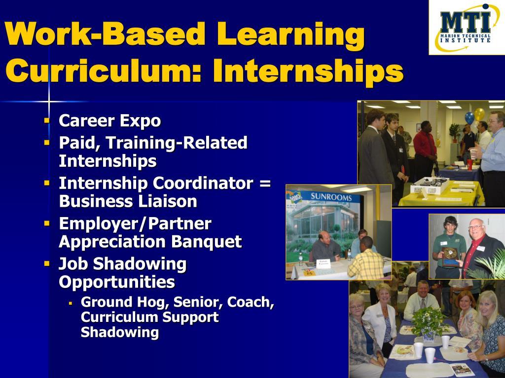 Work-Based Learning Curriculum: Internships