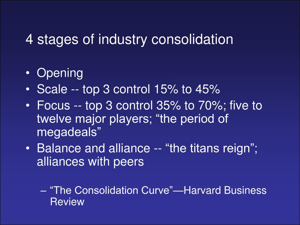 4 stages of industry consolidation