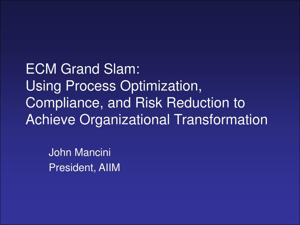 ECM Grand Slam: