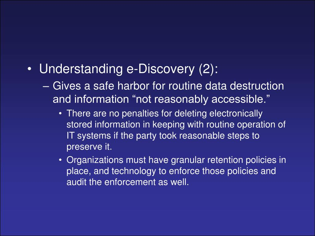 Understanding e-Discovery (2):