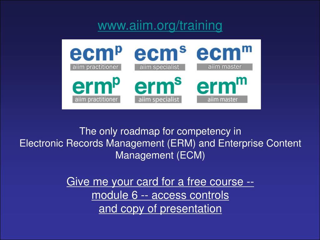 www.aiim.org/training