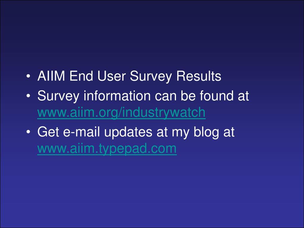 AIIM End User Survey Results
