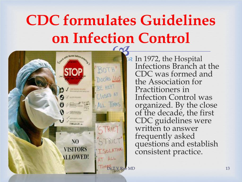CDC formulates Guidelines on Infection Control