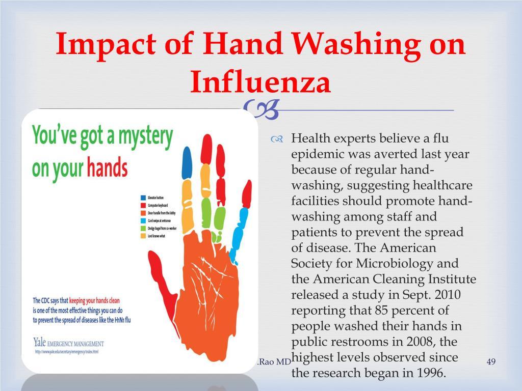 Impact of Hand Washing on Influenza