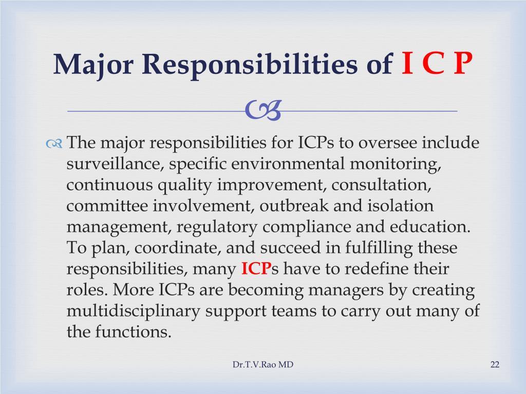 Major Responsibilities of