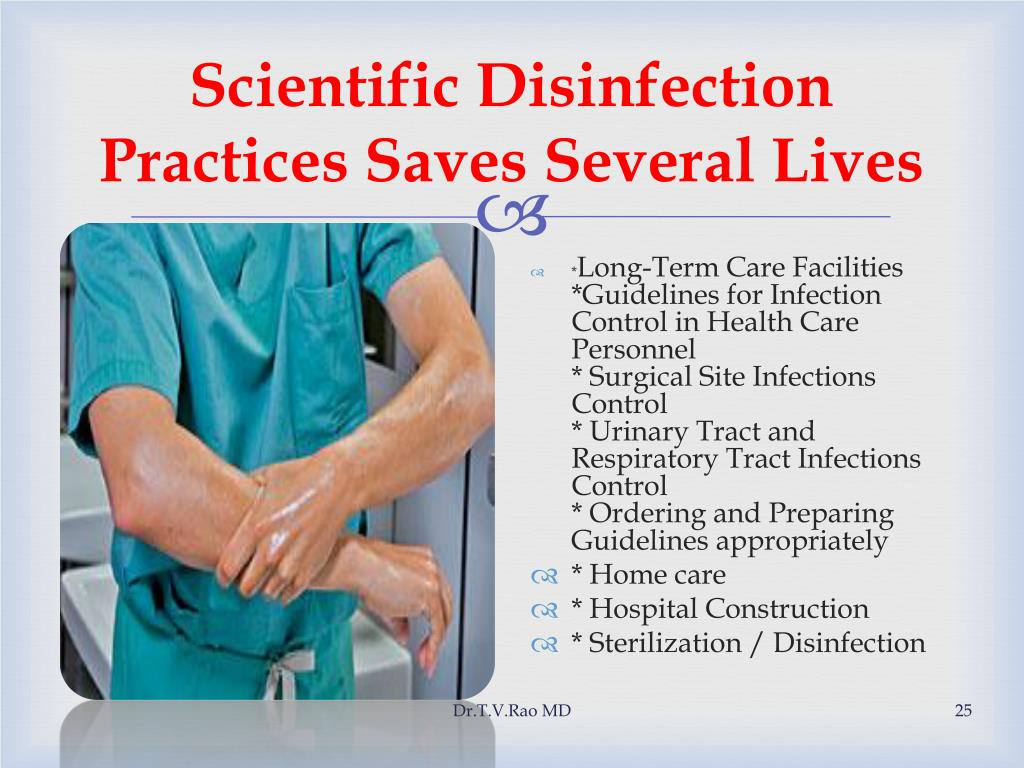 Scientific Disinfection Practices Saves Several Lives