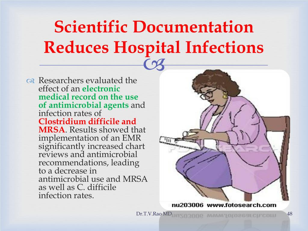Scientific Documentation Reduces Hospital Infections