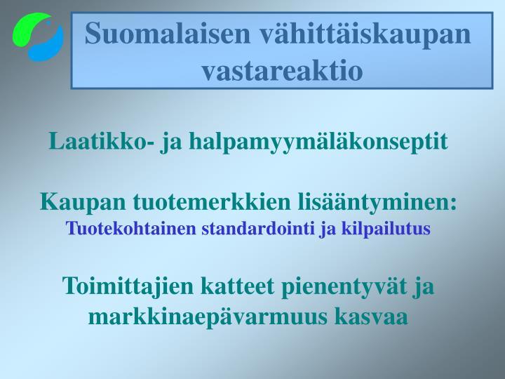 Suomalaisen vähittäiskaupan