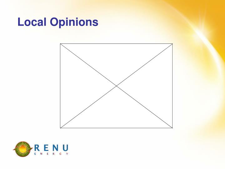 Local Opinions