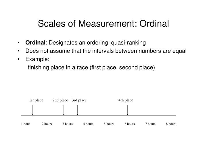 Scales of Measurement: Ordinal