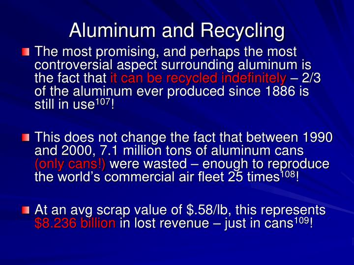 Aluminum and Recycling
