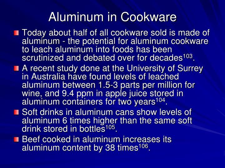 Aluminum in Cookware
