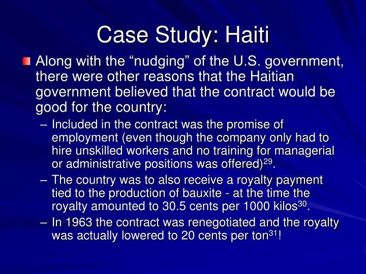 Case Study: Haiti
