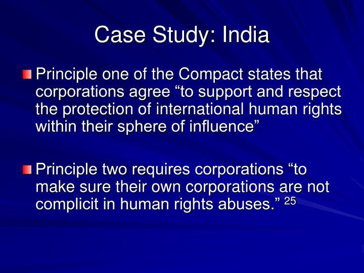 Case Study: India