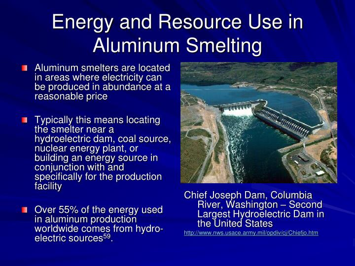 Energy and Resource Use in Aluminum Smelting