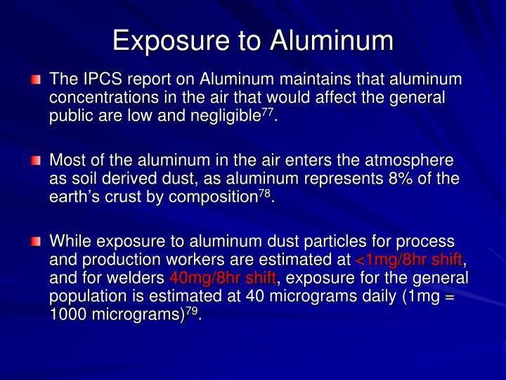 Exposure to Aluminum