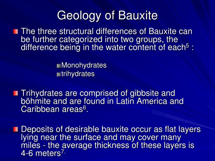 Geology of Bauxite