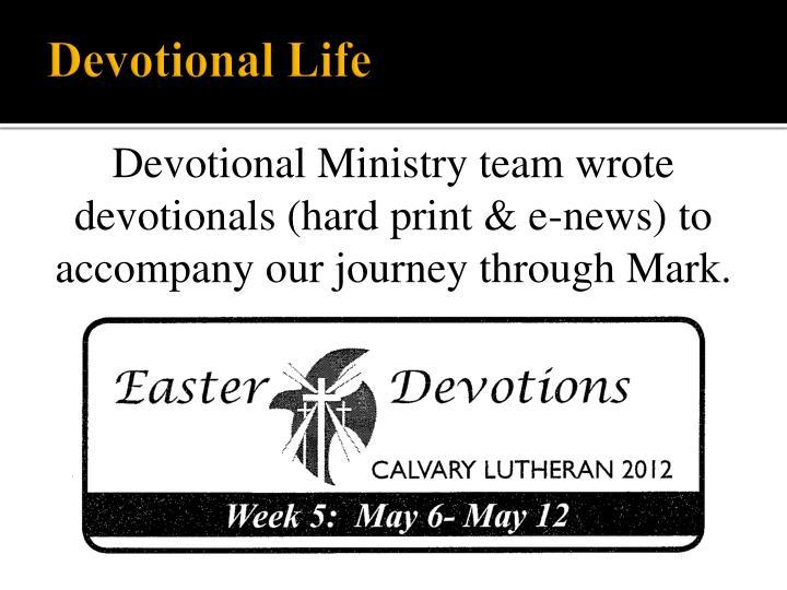 Devotional Life
