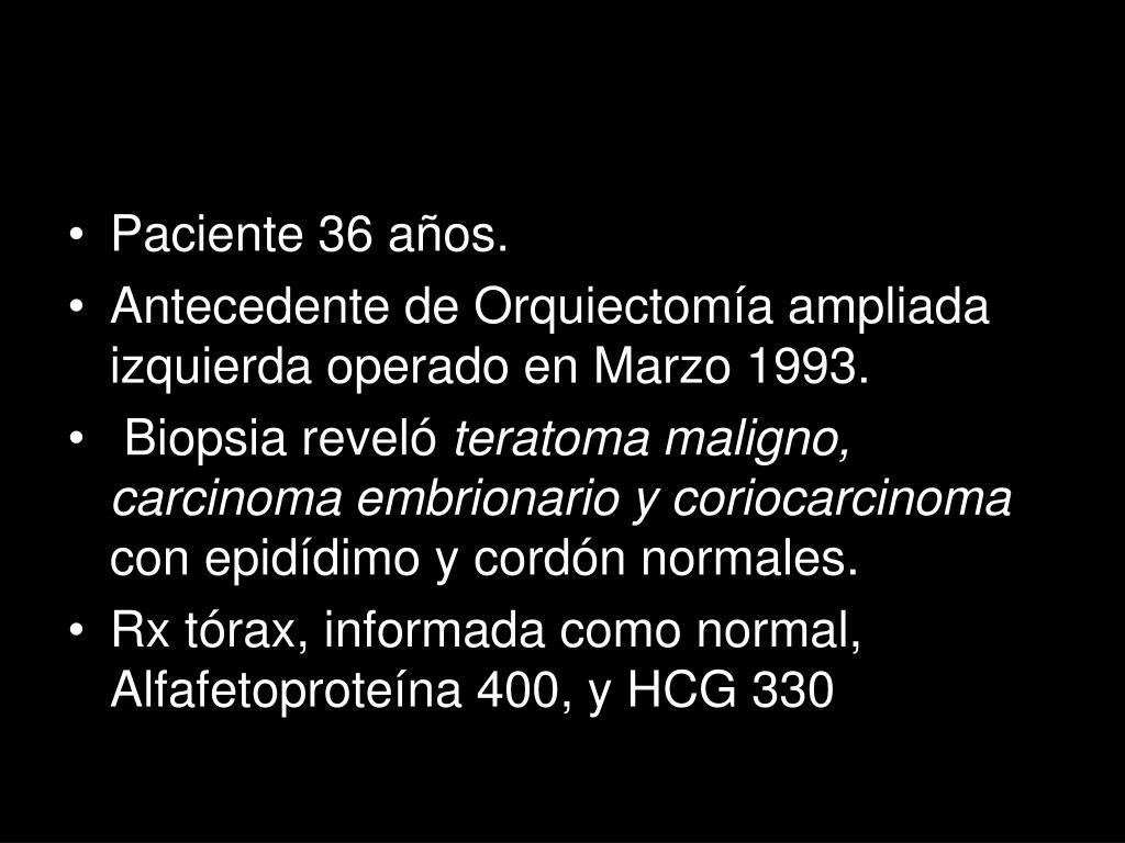 Paciente 36 años.