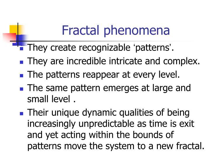 Fractal phenomena