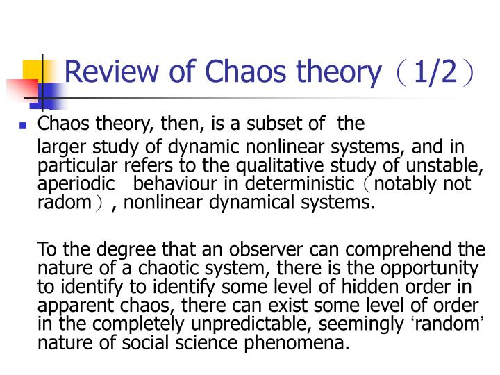 Review of Chaos theory