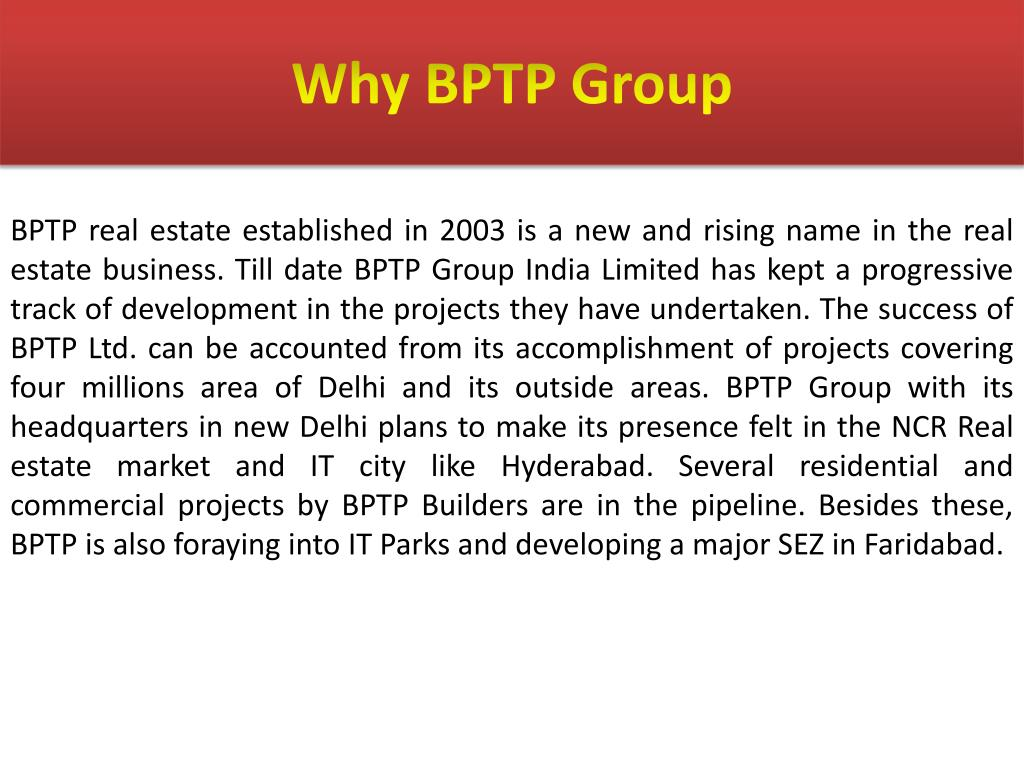 Why BPTP Group