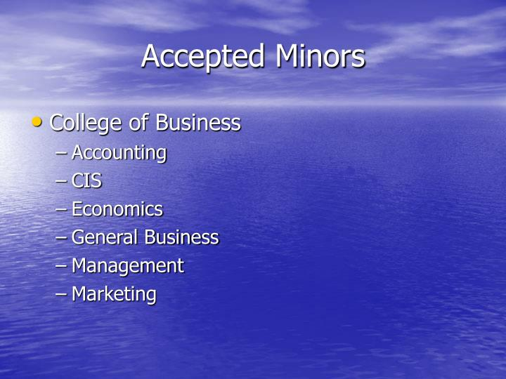 Accepted Minors
