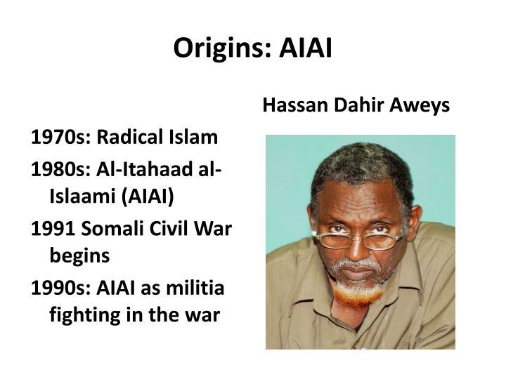 Origins: AIAI
