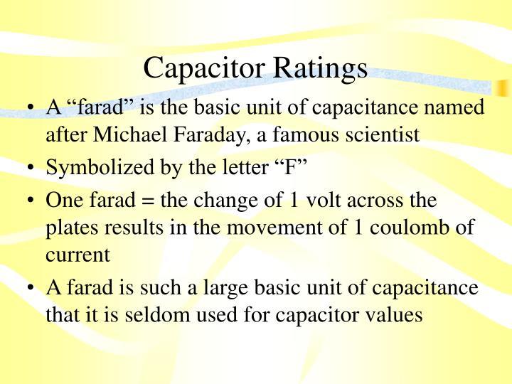 Capacitor Ratings