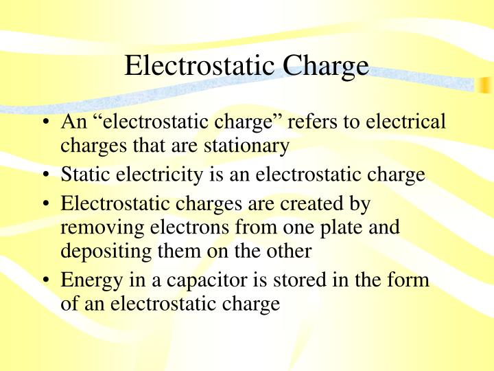 Electrostatic Charge