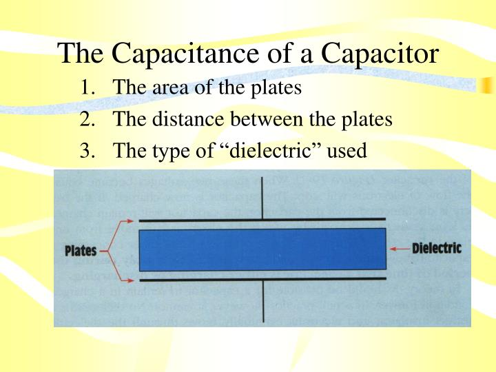 The Capacitance of a Capacitor
