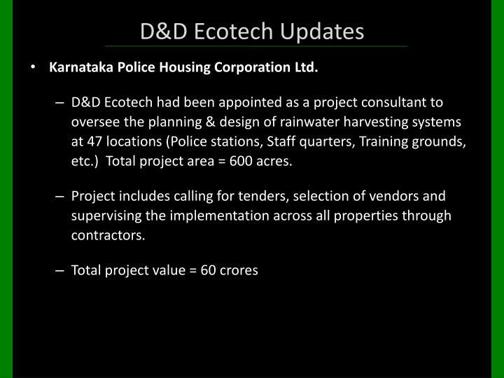 D&D Ecotech Updates