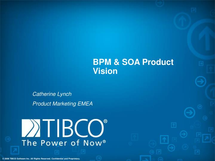 bpm soa product vision