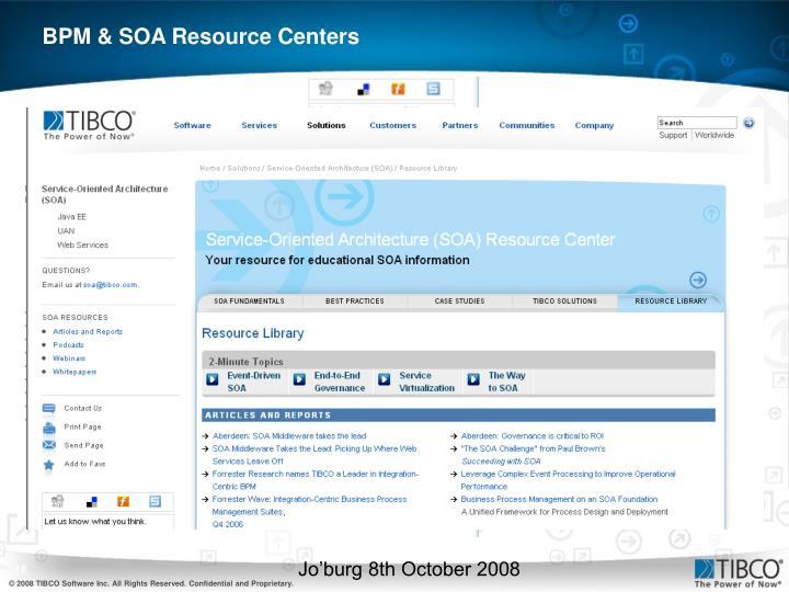 BPM & SOA Resource Centers