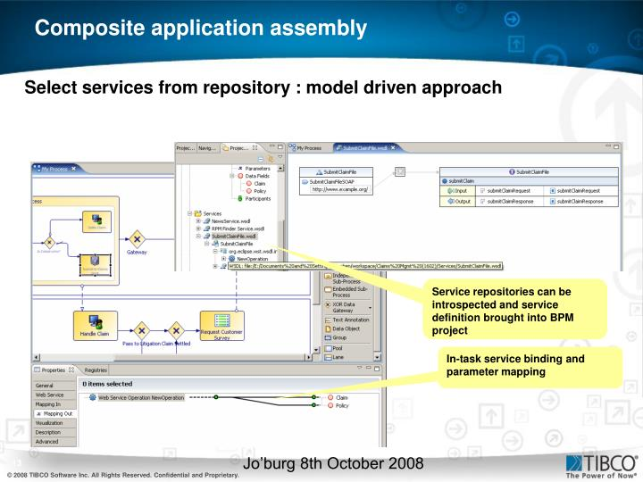 Select services from repository : model driven approach