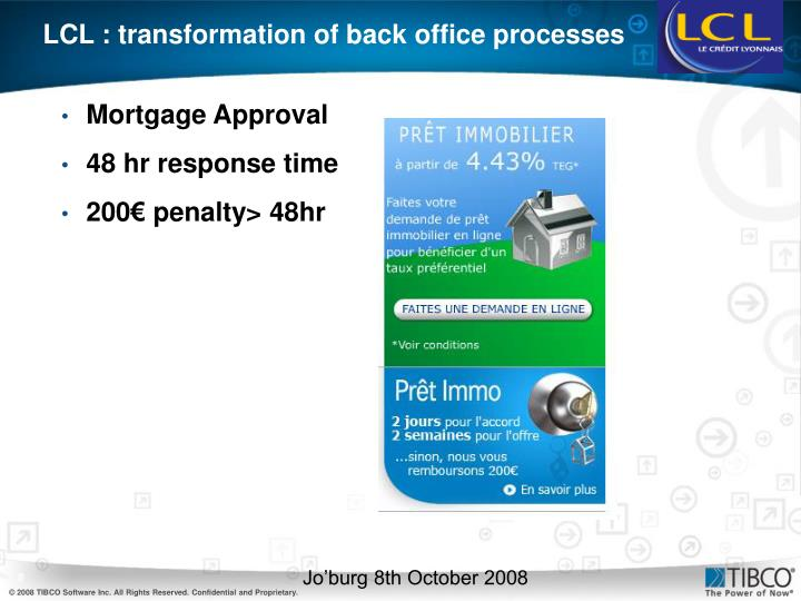 LCL : transformation of back office processes