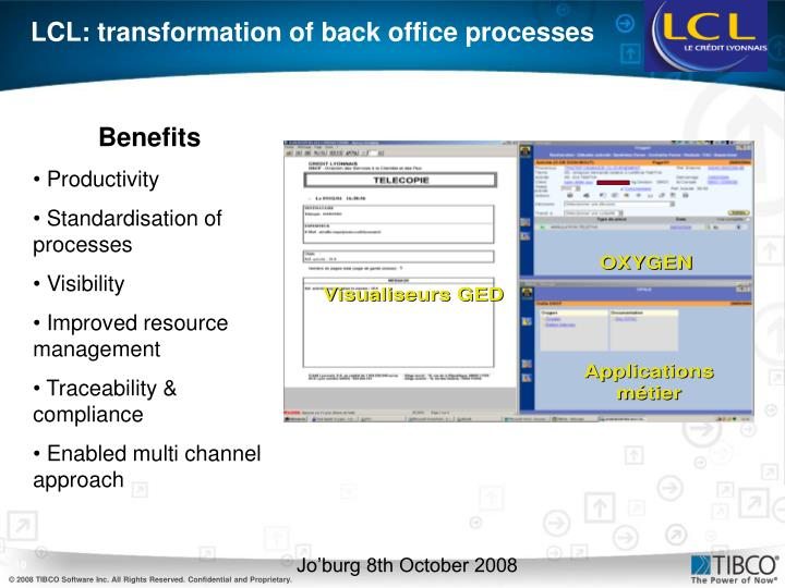 LCL: transformation of back office processes