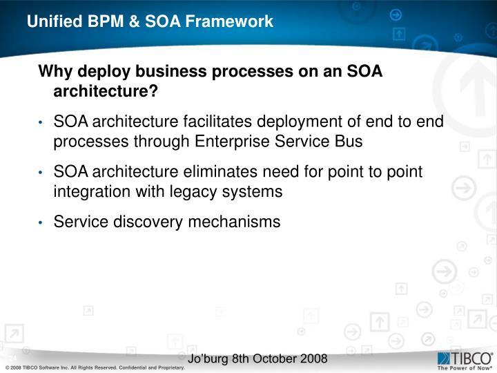 Unified BPM & SOA Framework