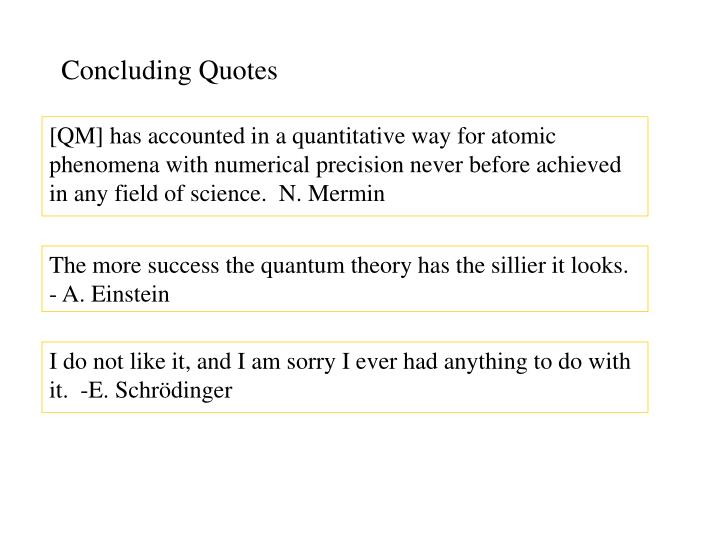 Concluding Quotes