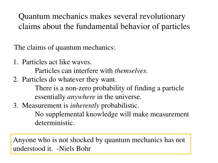 Anyone who is not shocked by quantum mechanics has not