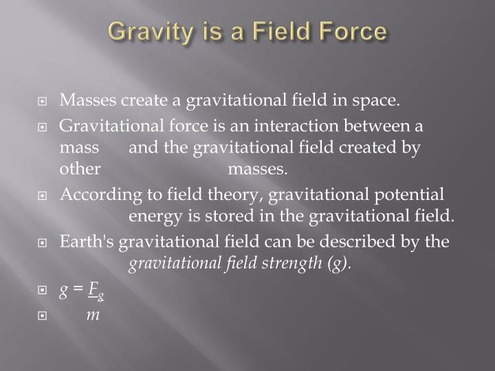 an introduction to the experiment to measure the earths gravitational field strength The earth's gravitational field 21 global gravity, potentials, figure of the earth, geoid introduction historically, gravity has played a central role in studies of dynamic processes in the earth's interior and is also important in exploration geophysics the concept of gravity is relatively simple, high-  the gravity field the law of.