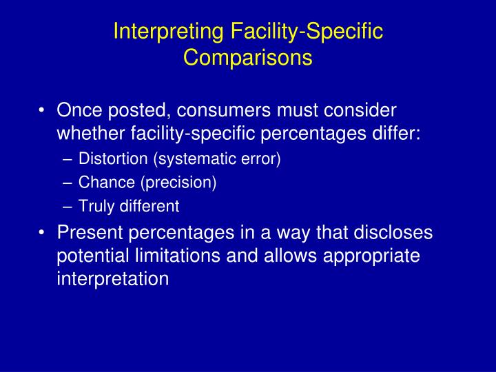Interpreting Facility-Specific