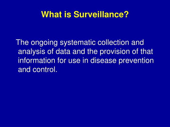 What is Surveillance?