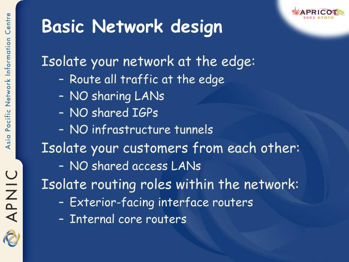 Basic Network design