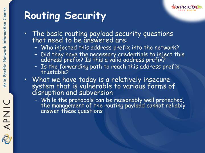 Routing Security