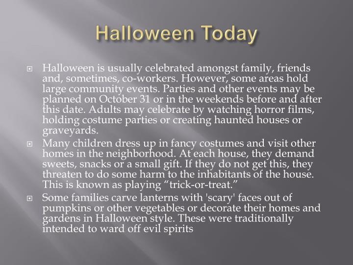 Halloween Today