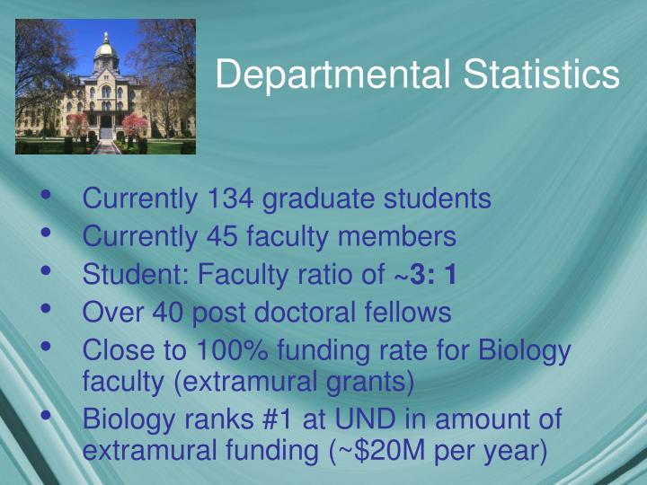 Departmental Statistics