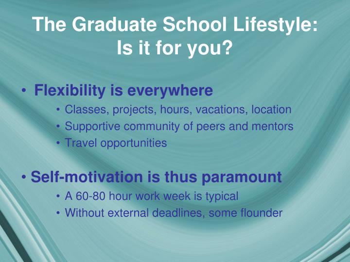 The Graduate School Lifestyle: